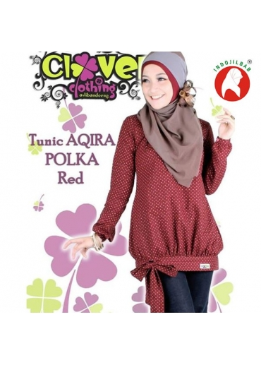 Tunic AQIRA POLKA Red