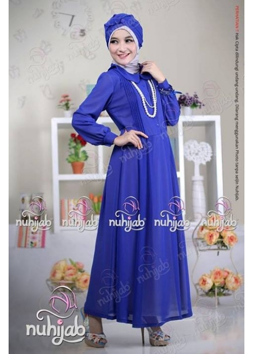Sifon Dress Jameela Royal Blue