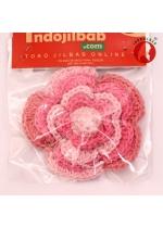 Bros Bunga Rajut Pink 001