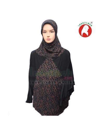 Jilbab Lengan Qafiya Hitam 001