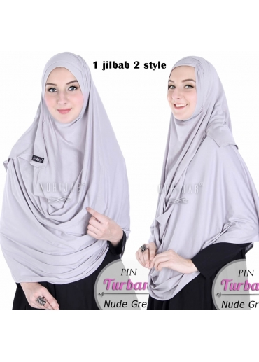 Pin Turban Grey
