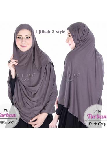 Pin Turban Dark Grey