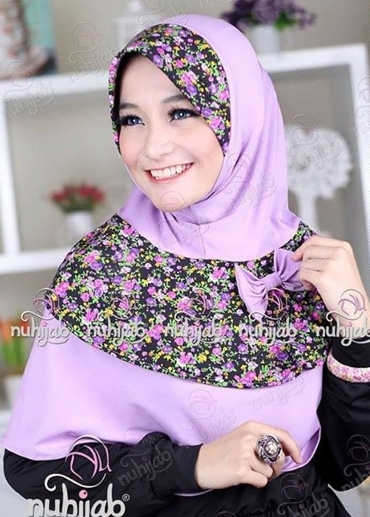 Ribbon Flower Purple