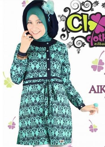 Tunic Aiko Batik Tosca