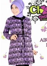 Tunic Aiko Batik Purple