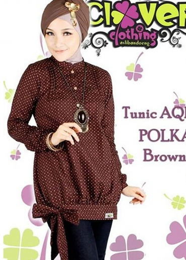 Tunic AQIRA POLKA Brown