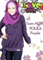 Tunic AQIRA POLKA Purple