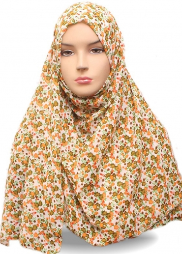 Shawl Sifon Motif 9 Orange 002