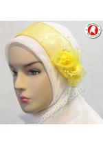 Bandana Pesta Mawar Kuning 001