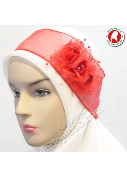 Bandana Pesta Mawar Merah 001